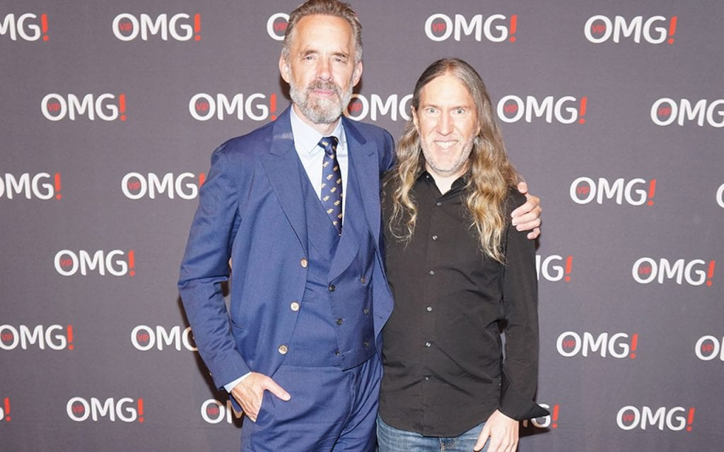 Anthony Metivier with Jordan Peterson, one of the more famous practitioners of the carnivore diet.