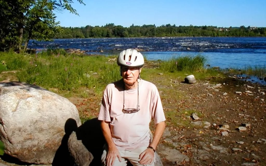 My grandfather taking a rest from a bike ride